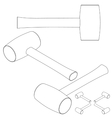 set tools isometric on a white background vector image