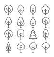 tree line icon vector image