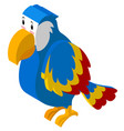 3d design for colorful parrot vector image vector image