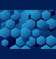 abstract blue hexagon background vector image vector image