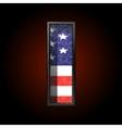 American metal figure i vector image vector image
