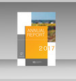 annual report leaflet brochure flyer template a4 vector image