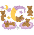 Baby Bear Set vector image