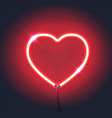 bright neon heartred neon sign heart sign on vector image vector image