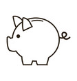 business piggy bank money safety vector image