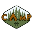 Camping badge emblem vector image