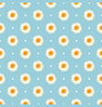 chamomile seamless pattern daisies on blue polka vector image