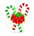 Christmas candy vector image vector image
