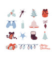 christmas cute icon vector image vector image