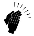 clapping hands on a white background vector image