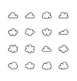 cloud flat line icons clouds symbols for data vector image
