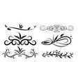 collection of hand drawn decorative corner vector image