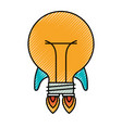 colored crayon silhouette of bulb light in shape vector image vector image
