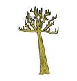 comic cartoon winter tree vector image vector image