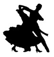 dancing couple athlete vector image