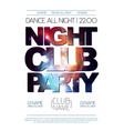 disco night club poster on open space background vector image vector image
