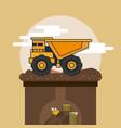 dump truck vehicle vector image