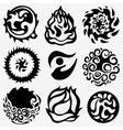 energy abstract symbols vector image vector image