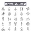 enterpreneur line icons for web and mobile design vector image vector image