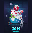 festive set - happy new year vector image vector image