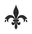 fleur de lis black icon medieval flower vector image vector image