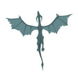 flying dragon wyvern mythical and fantastic vector image vector image