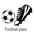 football pass icon simple black style vector image vector image