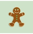 Gingerbread man decorated colored icing Holiday vector image vector image
