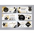 Gold gift voucher template layout vector image vector image
