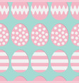 happy easter painting egg shell pink color with vector image vector image
