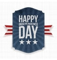Happy Independence Day realistic Label vector image vector image