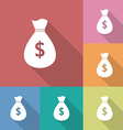 Icon of money bag with a dollar sign vector image vector image