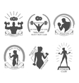 icons fitness club vector image vector image