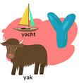 letter y from children s alphabet vector image