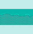 liquid flowing seamless mint honeycomb vector image