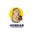logo ho bear simple mascot style vector image
