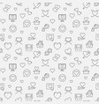 love concept seamless pattern in outline vector image vector image