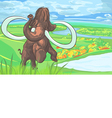 mammoth on plains vector image vector image