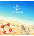 Marine Realistic Background vector image vector image