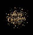 merry christmas lettering text for merry vector image vector image