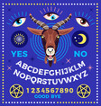 ouija board with goat occultism set vector image
