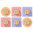 outlined icon of cupcake with parallel and not vector image