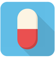Pill icon vector image vector image
