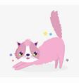 pink funny cat domestic cartoon animal cats pets vector image vector image