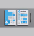 professional cv resume template design vector image