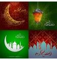 Ramadan greeting cards set vector image vector image