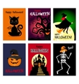Retro autumn halloween posters vector image vector image