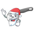 santa pizza cutter knife isolated on mascot vector image vector image