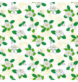 seamless pattern with gardenia jasminoides cape vector image vector image