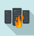 server firewall icon flat style vector image vector image